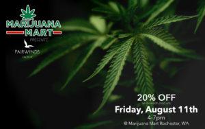 Fairwinds Vendor Day Flyer Featuring Cannabis Plants